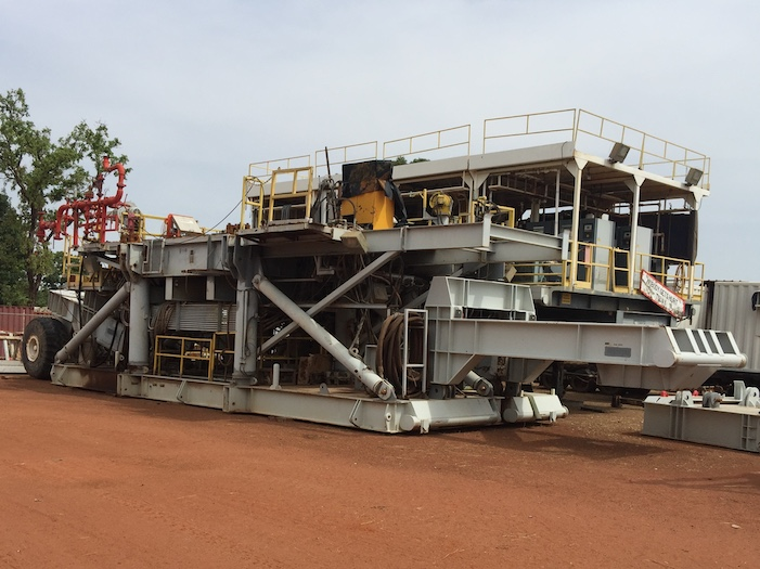 Image of Used 1100HP Trailer Mounted SCR IRI Drilling Rigs for Sale in Africa